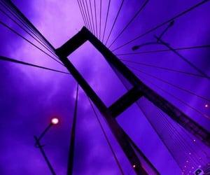 bridge, dark purple, and purple image