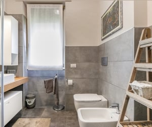 bathroom, grey, and design image