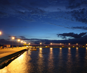 blue, night, and water image