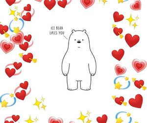 ice bear, cute, and red image