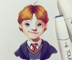 fanart, harry potter, and ron weasley image