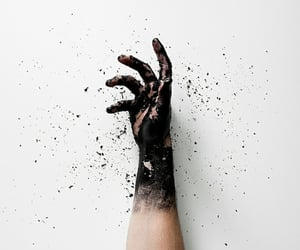 black and white, fiction, and hands image