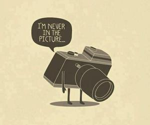 camera, picture, and sad image