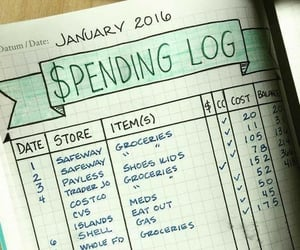 bullet journal and gastos image