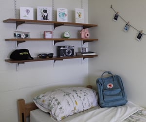 aesthetic, backpack, and bedroom image