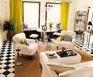 black, chartreuse, and design image