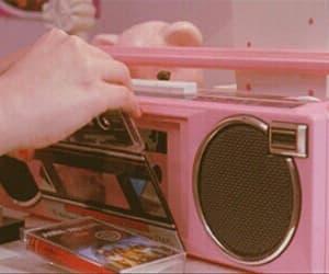 pink, gif, and music image