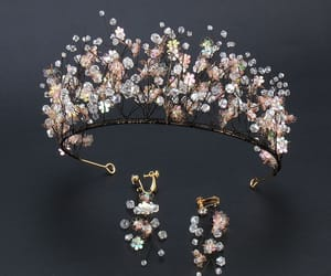 beading, bridal jewelry, and earrings image
