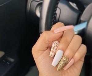 nails, acrylic, and nail art image