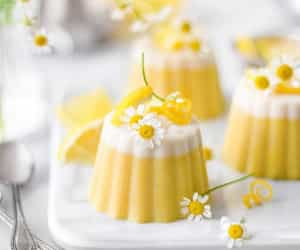 flowers, food, and yellow image