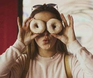 donuts, girl, and grunge image