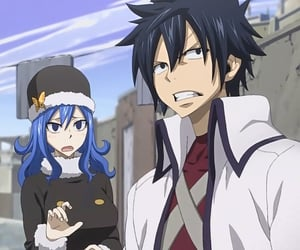 anime, blue hair, and couple image