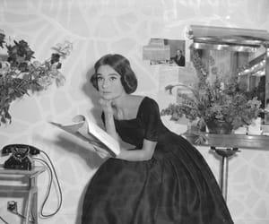 audrey hepburn, fashion, and flowers image