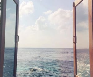 sea, ocean, and window image