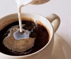 breakfast, milk, and coffee image