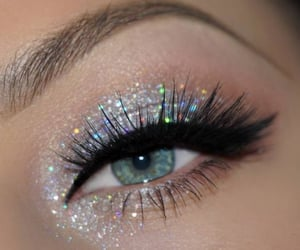 girl, beautiful, and glitter image
