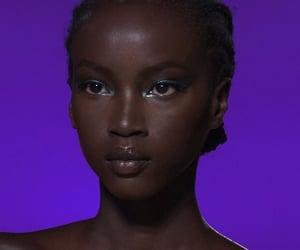 beauty, makeup, and purple image