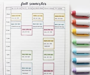 aesthetic, pencils, and schedule image