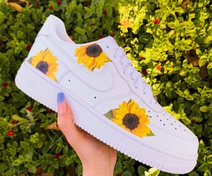 flower, nike, and photo image