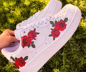 flowers, nike, and photo image