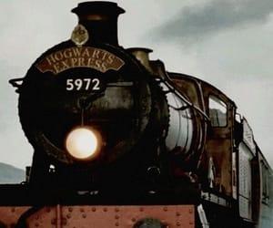 hogwarts, harry potter, and train image