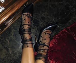 black, heels, and black heels image