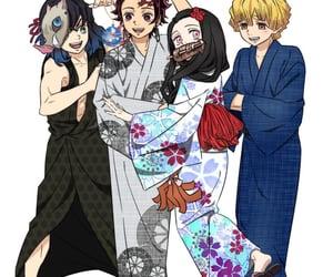 anime, anime girl, and anime boys image