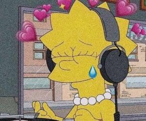 music, lisa simpson, and meme image