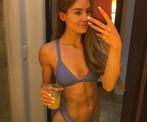 abs, brunette, and gym image