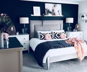 black, master bedroom, and gray image