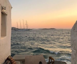 travel, sunset, and ocean image