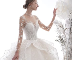 bridal, bridal gown, and stunning wedding dress image