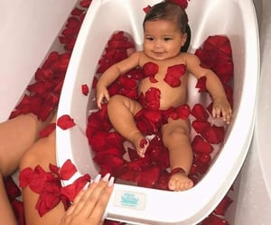 baby, lovely, and roses image