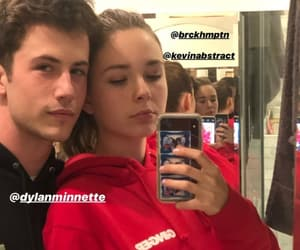 couple, dylan minnette, and lydia night image