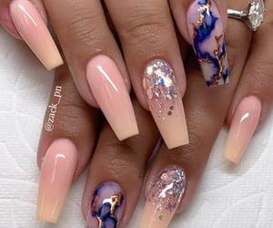 nails, nail inspo, and ombre nails image