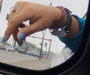 blue, bracelets, and nails image