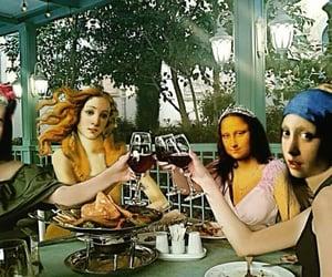 frida kahlo, mona lisa, and photoshop image