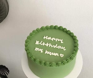 green, cake, and food image