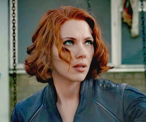 Avengers, black widow, and blue eyes image