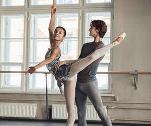 ballerina, dance, and pointe image