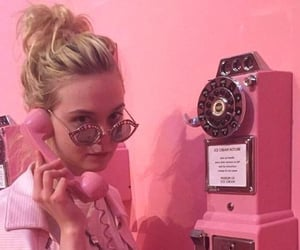 pink, aesthetic, and Elle Fanning image