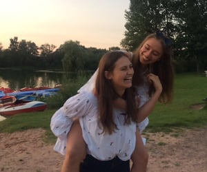 best friends, girls, and laughing image