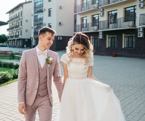 bride, свадьба, and couple image