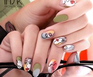 manicure, matte, and nail art image