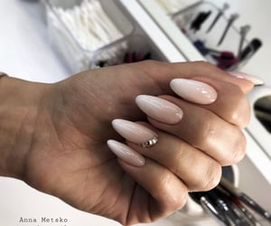 beige, gradient, and nail art image