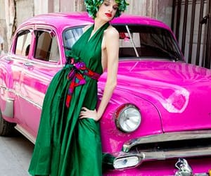 cars, pink, and dresses image