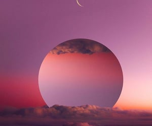 beautiful, moon, and pink image