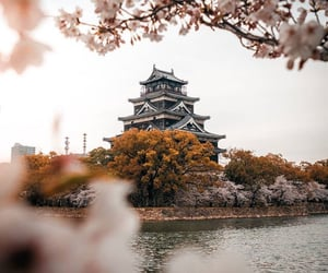 japan and hiroshima castle image