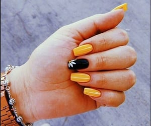 nails, yellow, and photography image