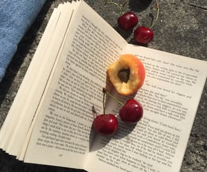 book, cherry, and aesthetic image